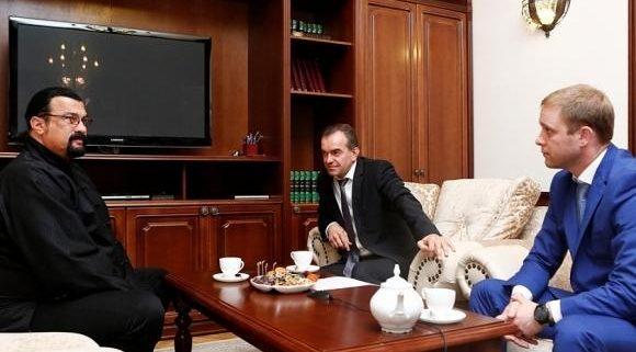 Кондратьев предложил Стивену Сигалу развивать кино на Кубани